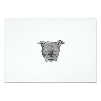 "Angry Bulldog Head Cartoon 3.5"" X 5"" Invitation Card"