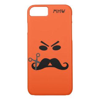 Angry Mustache Smiley custom monogram cases