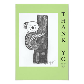 "Animal design Thank you card 3.5"" X 5"" Invitation Card"