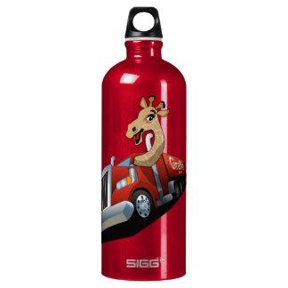 Animal transportation with giraffe water bottle