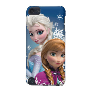Anna and Elsa   Snowflakes iPod Touch (5th Generation) Case