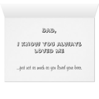 Anti Father's Day Card, bad dad family dysfunction Greeting Card