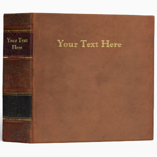 Antique Book, faux leather bound (brown retro) 3 Ring Binders