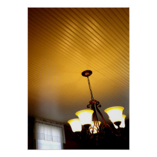 Antique Ceiling and Chandelier Poster