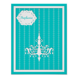 Any Color Background - Modern Baroque Personalized Poster