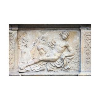 Apollo Relief Stretched Canvas Print