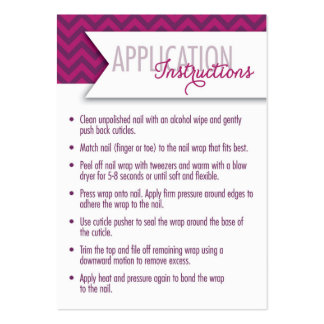 Application Instructions/7 Day Challenge Cards Large Business Card