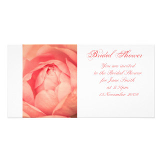 Apricot Rose - Bridal Shower Invitation Customized Photo Card