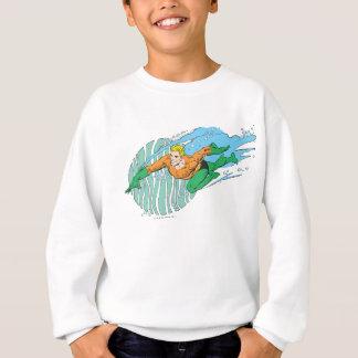Aquaman Leaps Left Tee Shirt