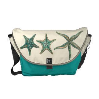 Aquamarine Triple Starfish Commuter Bags