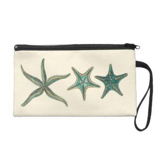Aquamarine Triple Starfish Wristlet