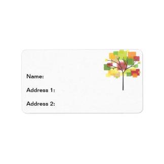 Arbre de la Réunion de famille Étiquette D'adresse