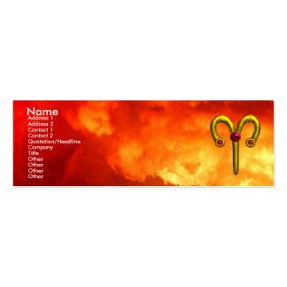 ARIES ,  ruby  yellow red Mini Business Card