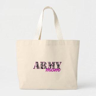 Army Mom Zebra Jumbo Tote Bag