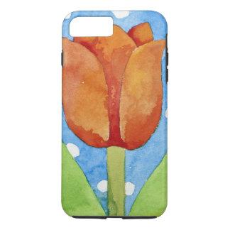 Arrière - plan blanc bleu 2013 de tache de tulipe coque iPhone 7 plus