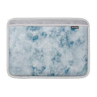 Arrière - plan bleu de marbre de texture poche pour macbook air