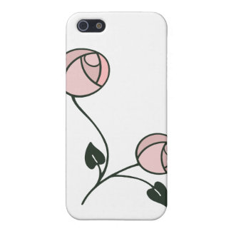 Art Nouveau Style Roses in Pink, Mauve and Green iPhone 5/5S Cover