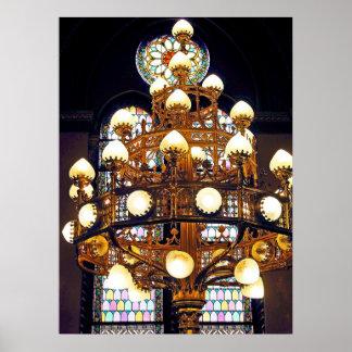 Artistic Chandelier / Lights Poster