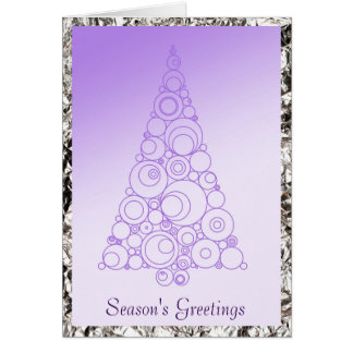 Artistic tree design in lavender Christmas Greeting Card
