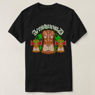 Artists United Triple Tiki Masks T-shirt
