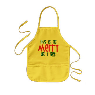 As Merry As I Get Kids Apron