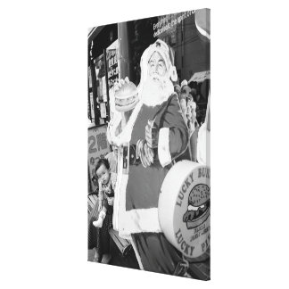 Asia, Japan, Hakodate. Santa Claus in Japan Gallery Wrap Canvas