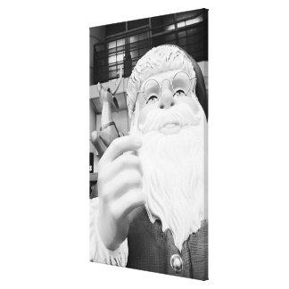 Asia, Japan, Tokyo. Santa Claus in Ikebukuro Stretched Canvas Print