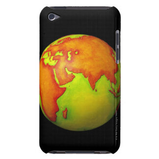 Asia on a Globe iPod Touch Case