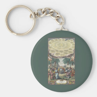 Atlas Coelestis by Doppelmaier, Vintage Astronomy Basic Round Button Keychain