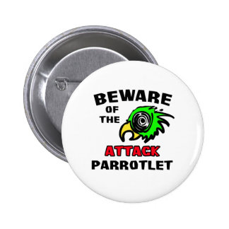 Attack Parrotlet 2 Inch Round Button