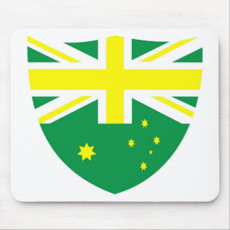 Aussie Flag Shield Mouse Pad