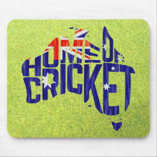 Australia Home of Cricket Calligram Mouse Pad