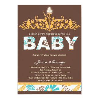Autumn Baby Fall Couture Baby Shower Invitation