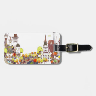 Autumn In The City Luggage Tags
