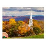 Autumn Scene In Peacham, Vermont, USA Postcard