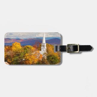 Autumn Scene In Peacham, Vermont, USA Tags For Luggage