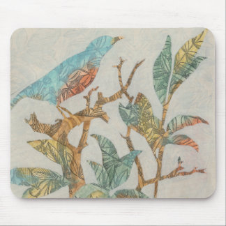 Aviary Collage I Mouse Pad