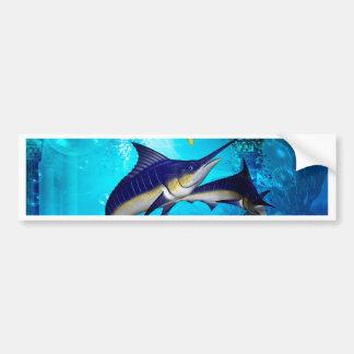 Awesome underwater world bumper sticker
