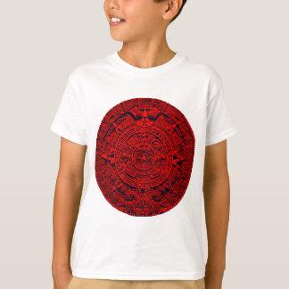 Aztec Calendar - red Tee Shirts