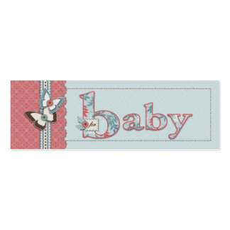 B is for Baby Skinny Gift Tag Mini Business Card