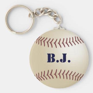 B.J. Baseball Keychain by 369MyName