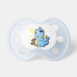 Baby dragon sucking his thumb - Blue - Pacifier