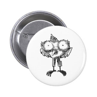 baby eagle cartoon style illustration 2 inch round button