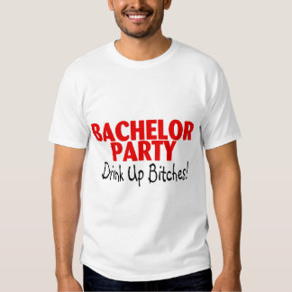Bachelor Party Drink Up Red Black T-shirts