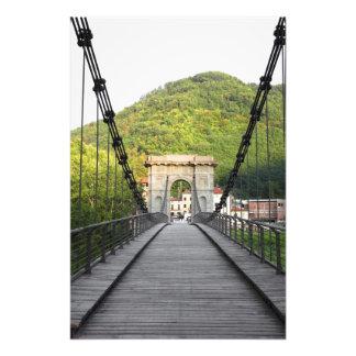 Bagni di Lucca, Tuscany, Italy - An old bridge Photo Art