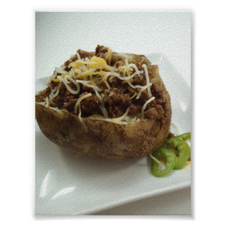 Baked Potato Stuffed with Beef Poster