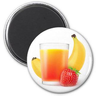 Banana strawberry shake 2 inch round magnet
