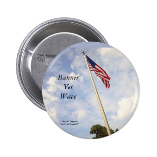 BANNER YET WAVE AMERICAN FLAG BUTTON