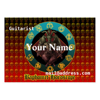 Baphomet and horoscope large business card