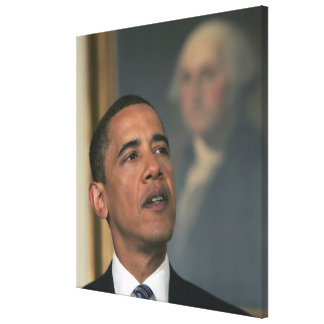 Barack Obama announce his intent to nominate Gallery Wrap Canvas